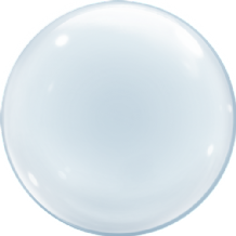 "Clear Deco Bubble Balloon (24"") 1pc"